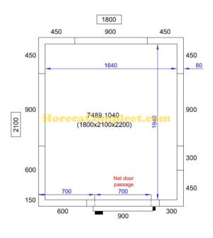 COMBISTEEL KOEL/VRIESCEL 1800X2100X2200 Pro Line (7489.1040)