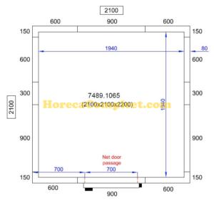 COMBISTEEL KOEL/VRIESCEL 2100X2100X2200 Pro Line (7489.1065)