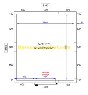 COMBISTEEL KOEL/VRIESCEL 2100X2400X2200 Pro Line (7489.1070)