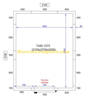COMBISTEEL KOEL/VRIESCEL 2100X2700X2200 Pro Line (7489.1075)