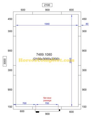 COMBISTEEL KOEL/VRIESCEL 2100X3000X2200 Pro Line (7489.1080)