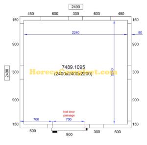 COMBISTEEL KOEL/VRIESCEL 2400X2400X2200 Pro Line (7489.1095)