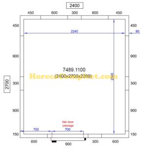 COMBISTEEL KOEL/VRIESCEL 2400X2700X2200 Pro Line (7489.1100)