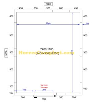 COMBISTEEL KOEL/VRIESCEL 2400X3000X2200 Pro Line (7489.1105)