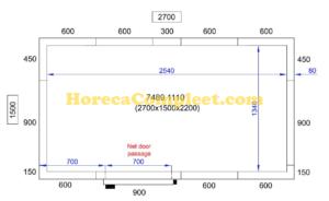 COMBISTEEL KOEL/VRIESCEL 2700X1500X2200 Pro Line (7489.1110)