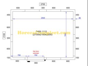 COMBISTEEL KOEL/VRIESCEL 2700X2100X2200 Pro Line (7489.1115)