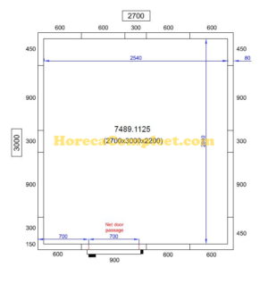 COMBISTEEL KOEL/VRIESCEL 2700X3000X2200 Pro Line (7489.1125)
