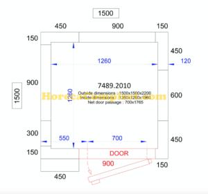COMBISTEEL KOEL/VRIESCEL 1500x1500x2200 - 120 MM Pro Line (7489.2010)