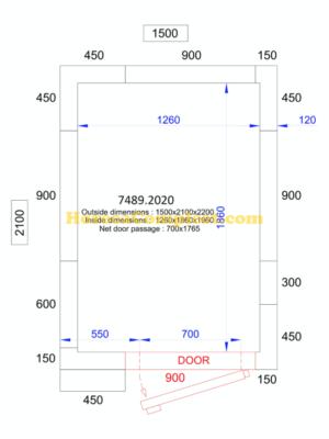 COMBISTEEL KOEL/VRIESCEL 1500x2100x2200 - 120 MM Pro Line (7489.2020)