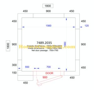 COMBISTEEL KOEL/VRIESCEL 1800x1800x2200 - 120 MM Pro Line (7489.2035)