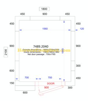 COMBISTEEL KOEL/VRIESCEL 1800x2100x2200 - 120 MM Pro Line (7489.2040)