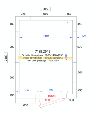 COMBISTEEL KOEL/VRIESCEL 1800x2400x2200 - 120 MM Pro Line (7489.2045)