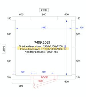 COMBISTEEL KOEL/VRIESCEL 2100x2100x2200 - 120 MM Pro Line (7489.2065)