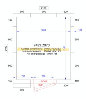 COMBISTEEL KOEL/VRIESCEL 2100x2400x2200 - 120 MM Pro Line (7489.2070)