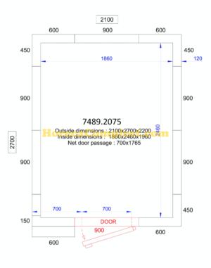 COMBISTEEL KOEL/VRIESCEL 2100x2700x2200 - 120 MM Pro Line (7489.2075)