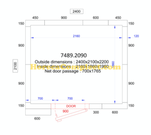 COMBISTEEL KOEL/VRIESCEL 2400x2100x2200 - 120 MM Pro Line (7489.2090)