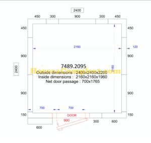 COMBISTEEL KOEL/VRIESCEL 2400x2400x2200 - 120 MM Pro Line (7489.2095)