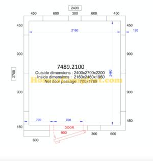 COMBISTEEL KOEL/VRIESCEL 2400x2700x2200 - 120 MM Pro Line (7489.2100)