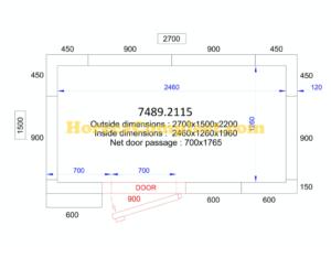 COMBISTEEL KOEL/VRIESCEL 2700x1500x2200 - 120 MM Pro Line (7489.2115)