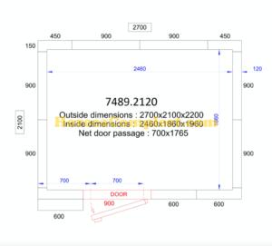 COMBISTEEL KOEL/VRIESCEL 2700x2100x2200 - 120 MM Pro Line (7489.2120)