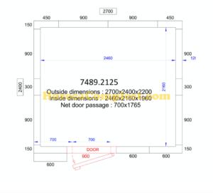 COMBISTEEL KOEL/VRIESCEL 2700x2400x2200 - 120 MM Pro Line (7489.2125)