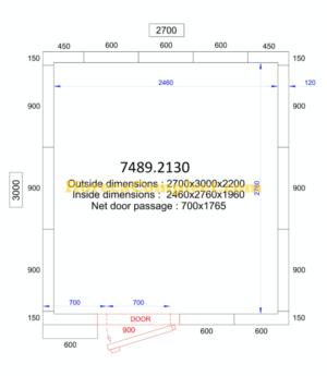 COMBISTEEL KOEL/VRIESCEL 2700x3000x2200 - 120 MM Pro Line (7489.2130)