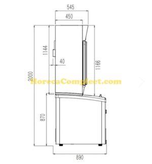 COMBISTEEL WAND KOEL/VRIES COMBI WIT 2 GLASDEUREN (7455.2500)